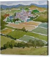 Village In Tuscany Canvas Print