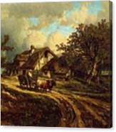 Village Landscape 1844 Canvas Print
