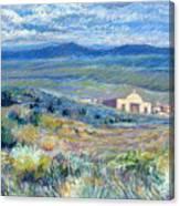 Village Mission Near Taos Canvas Print