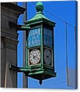 Village Of Elmore Clock-vertical Canvas Print