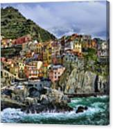 Village Of Manarola - Cinque Terre - Italy Canvas Print