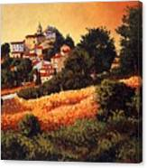 Village Of Molise Italy Canvas Print