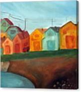 Village On The Coast Canvas Print
