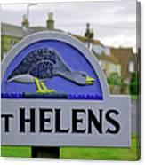 Village Sign - St Helens Canvas Print