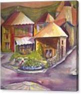 Village Square Canvas Print