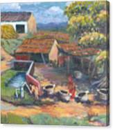 Village Stables Canvas Print