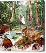 Village Stream Canvas Print