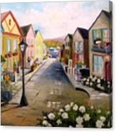 Village Street Canvas Print