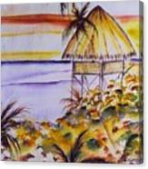 Village Sunset  Canvas Print