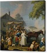Villagers Preparing To Depart For The Festival Canvas Print