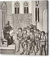 Villains Receiving Their Lord S Orders Canvas Print