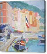 Ville Franche Boat Canvas Print