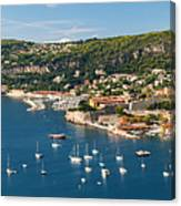 Villefranche-sur-mer And Cap De Nice On French Riviera Canvas Print