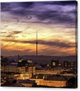 Vilnius Tv Tower Canvas Print