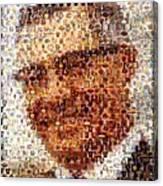 Vince Lombardi Green Bay Packers Mosaic Canvas Print