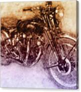 Vincent Black Shadow 2 - Standard Motorcycle - 1948 - Motorcycle Poster - Automotive Art Canvas Print