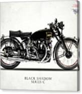Vincent Black Shadow Canvas Print