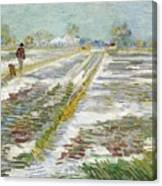 Vincent Van Gogh, Landscape With Snow Canvas Print