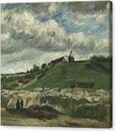 Vincent Van Gogh, The Hill Of Montmartre With Stone Quarry, Paris Canvas Print