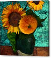 Vincent's Sunflowers 2 Canvas Print