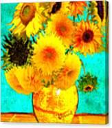 Vincent's Sunflowers 4 Canvas Print