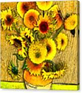 Vincent's Sunflowers Canvas Print