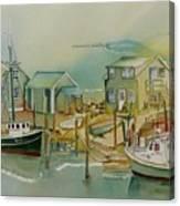 Vineyard Boats Canvas Print