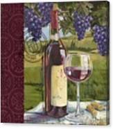 Vineyard Wine Tasting Collage I Canvas Print