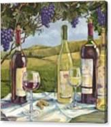 Vineyard Wine Tasting Canvas Print