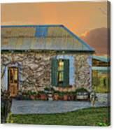 Vino Cottage Canvas Print
