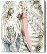 Vintage 1920s Fashion Plate  Evening Dresses Canvas Print