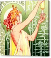 Vintage Absinthe Robette Poster Canvas Print