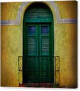 Vintage Arched Door Canvas Print