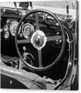 Vintage Aston Martin Dashboard Canvas Print