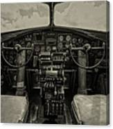 Vintage B-17 Cockpit Canvas Print