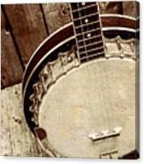 Vintage Banjo Barn Dance Canvas Print