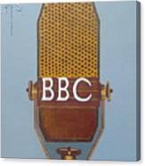 Vintage Bbc Mic Canvas Print