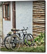 Vintage Bicycles The Journey Canvas Print