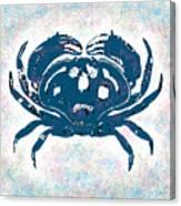 Vintage Blue Crab Canvas Print