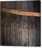 Vintage Bordeaux Wine Barrel Without Its X Canvas Print