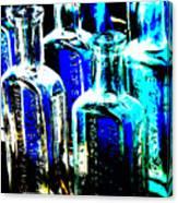 Vintage Bottles At A Flea Market Hard Canvas Print