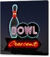Vintage Bowling Neon Sign Canvas Print