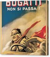 Vintage Bugatti Advert Canvas Print