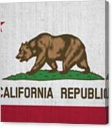 Vintage California Flag Canvas Print