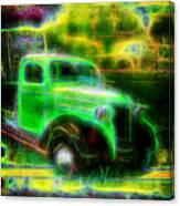 Vintage Car 4 Neons Edition Canvas Print