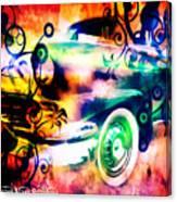 Vintage Car 1 Neons Edition Canvas Print