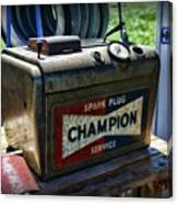 Vintage Champion Spark Plug Cleaner Canvas Print
