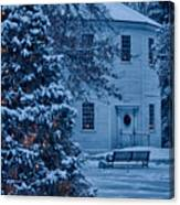 Vintage Christmas Church In Vermont Canvas Print