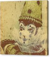 Vintage Circus Postcard Canvas Print