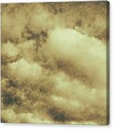 Vintage Cloudy Sky. Old Day Background Canvas Print